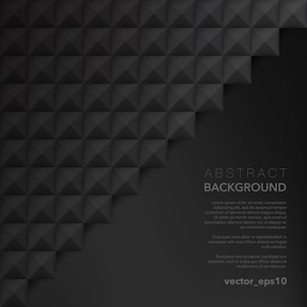 Black geometric surface. abstract vector surface.
