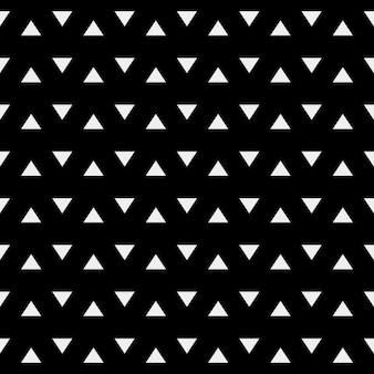 Black geometrical pattern with white triangles