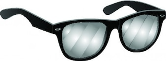 Black glasses photochromatic icon vector