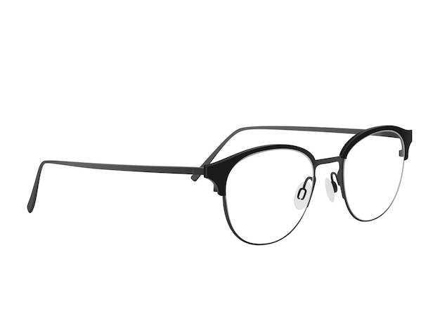 Черные очки с черными ручками