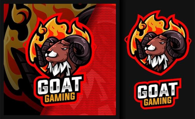 Black goat gaming mascot logo