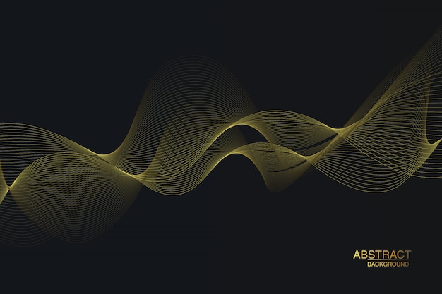 Black and gold background.