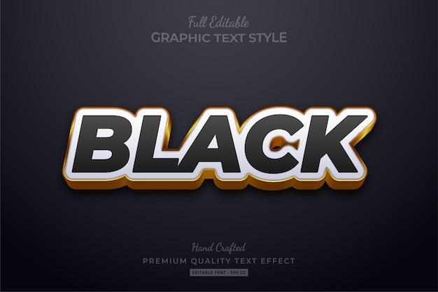 Эффект стиля редактируемого текста black gold