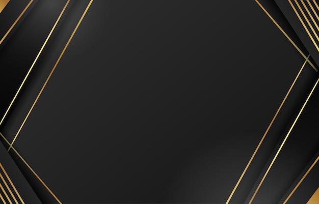 ブラックゴールドライン斜めアブストラクト