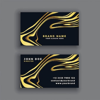 Black and gold luxury abstract business card