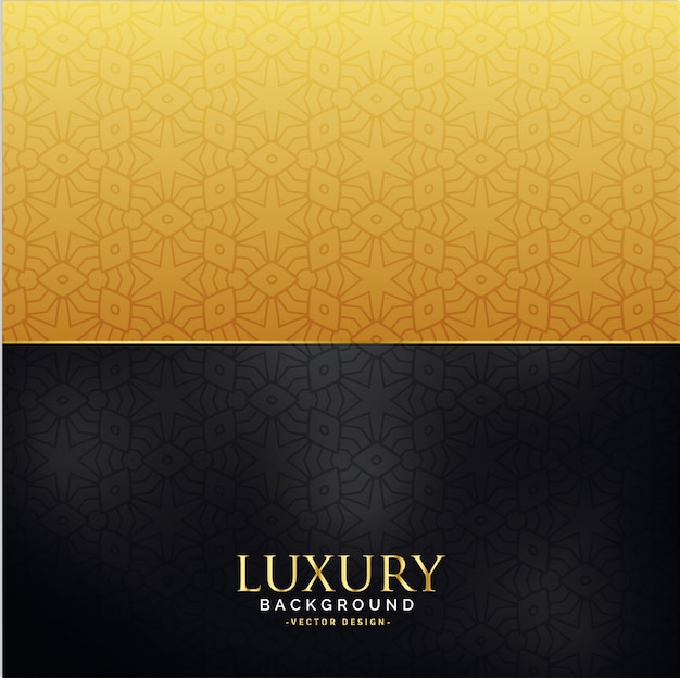 Black and gold luxury background