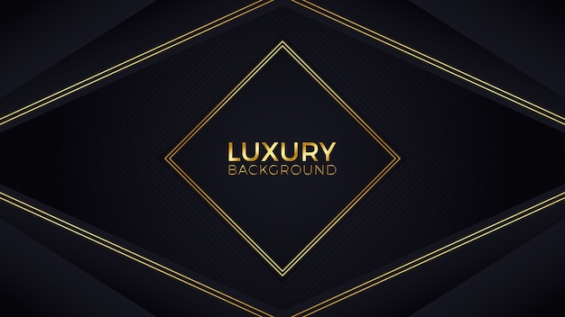 Black gold luxury background