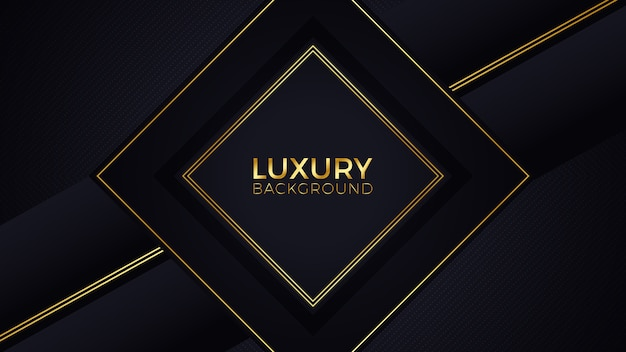 Black gold luxury background