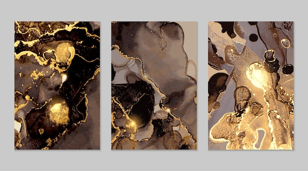 Black and gold marble abstract textures