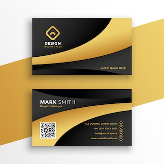 Black and gold modern business card template