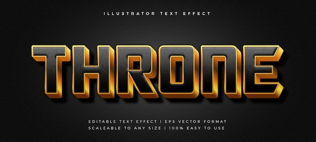 Black gold movie title text style font effect