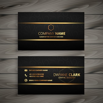 Black and gold premium business card