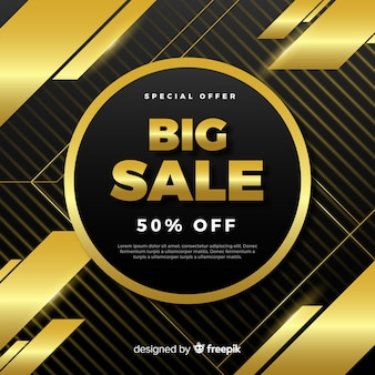 Black and gold sale background