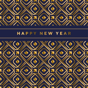 Black and gold vector seamless pattern in ar deco style.