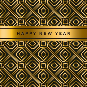 Black and gold vector seamless pattern in art deco style