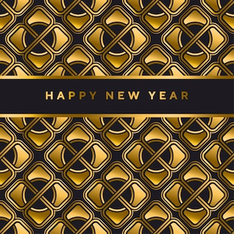 Black and gold vector seamless pattern in art deco style.
