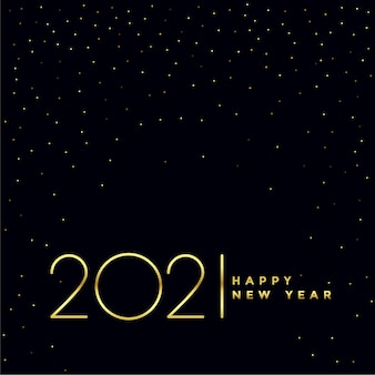 Black and golden 2021 happy new year background design