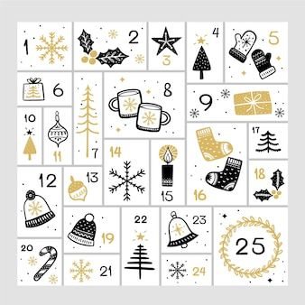 Black and golden advent calendar