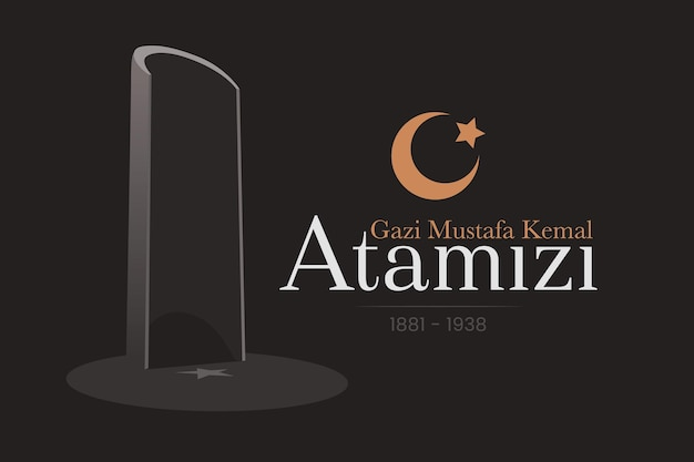 Black and golden atatürk memorial day