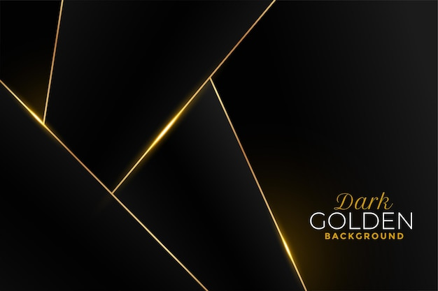Black and golden background in geometric style