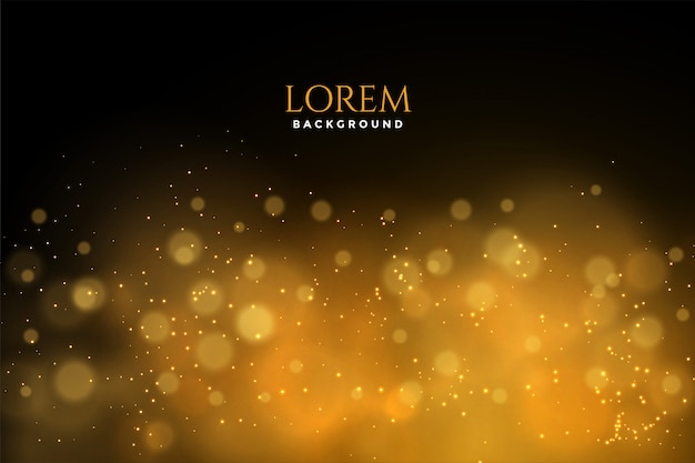 Black and golden bokeh background