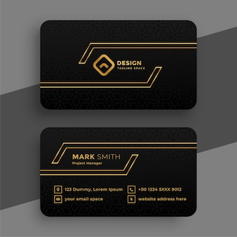Black and golden business card template