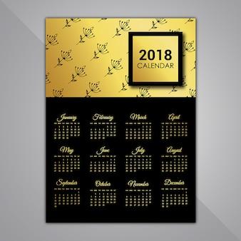 Black and golden calendar designs