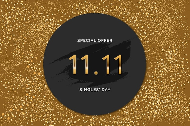 Black and golden chinese singles' day