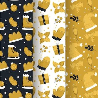블랙 & 골든 크리스마스 패턴 컬렉션