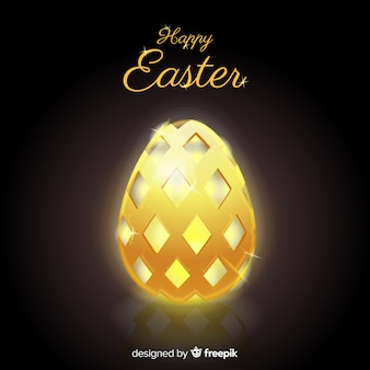 Black and golden happy easter background