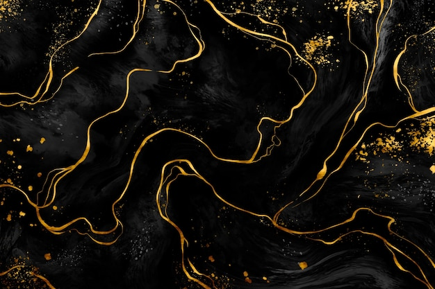Black and golden marble background