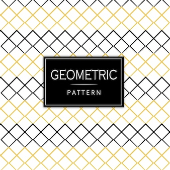 Black and golden memphis geometric pattern