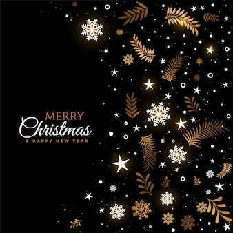 Black and golden merry christmas decorative