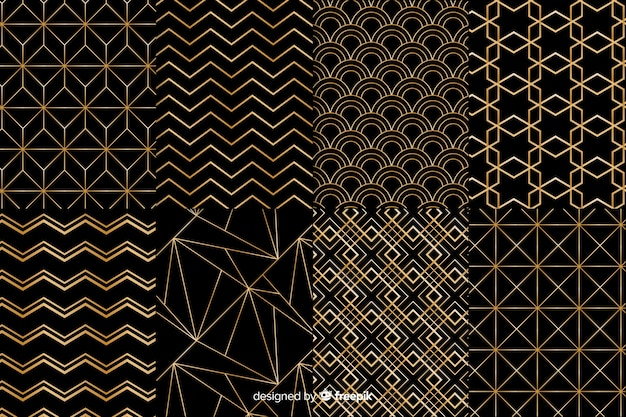 Black and golden pattern collection