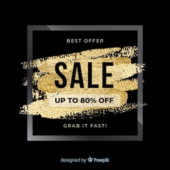 Black and golden sale background
