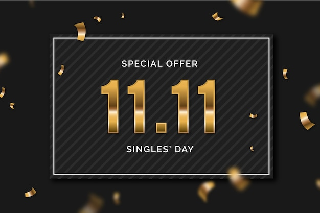 Black and golden singles' day event