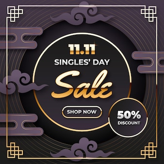Black and goldensingles day theme