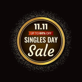 Black and golden singles' day
