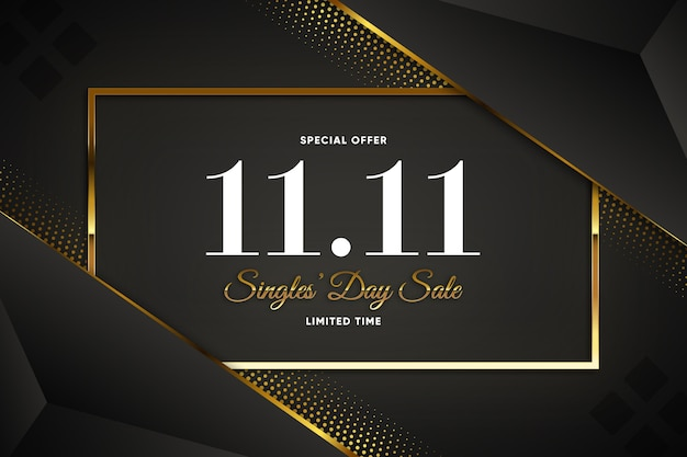 Black and golden singles day