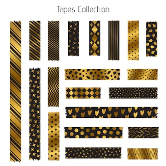 Black and golden tapes