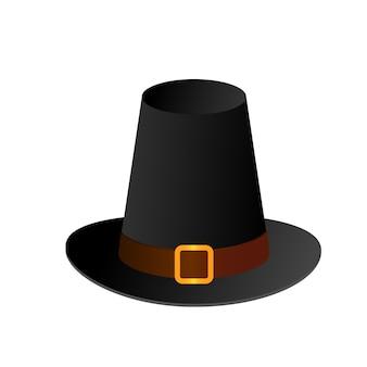 Black gradient pilgrim hat happy thanksgiving day