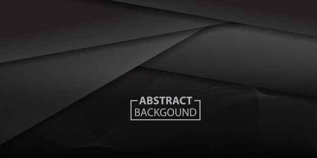 Black gradient triangle shapes background