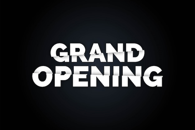 Black grand opening realistic  background,