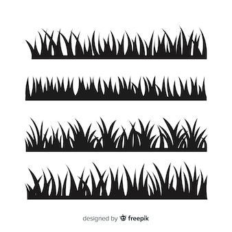 검은 잔디 테두리 실루엣 컬렉션