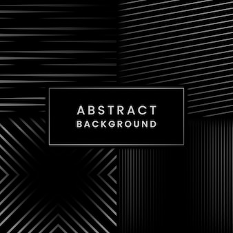 Black and gray abstract background vector set