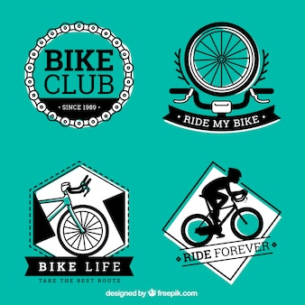 Black and green bike labels