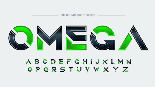 Black and green modern sports typography