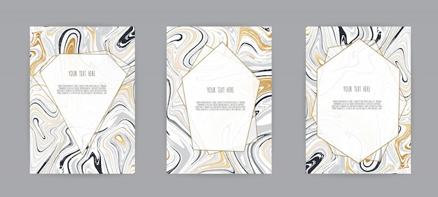 Black and grey marble texture card
