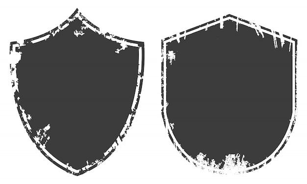 Black grunge badges