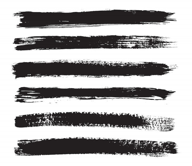 Black grunge brushes